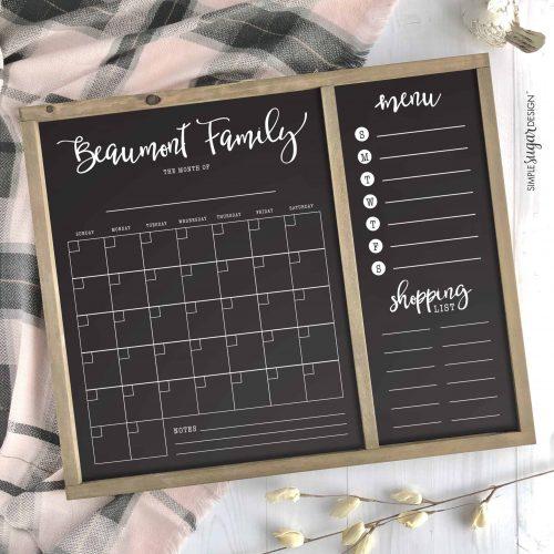 Spring Family Calendar Black copy